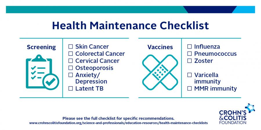 Health maintenance checklist - Crohn's & Colitis Foundation
